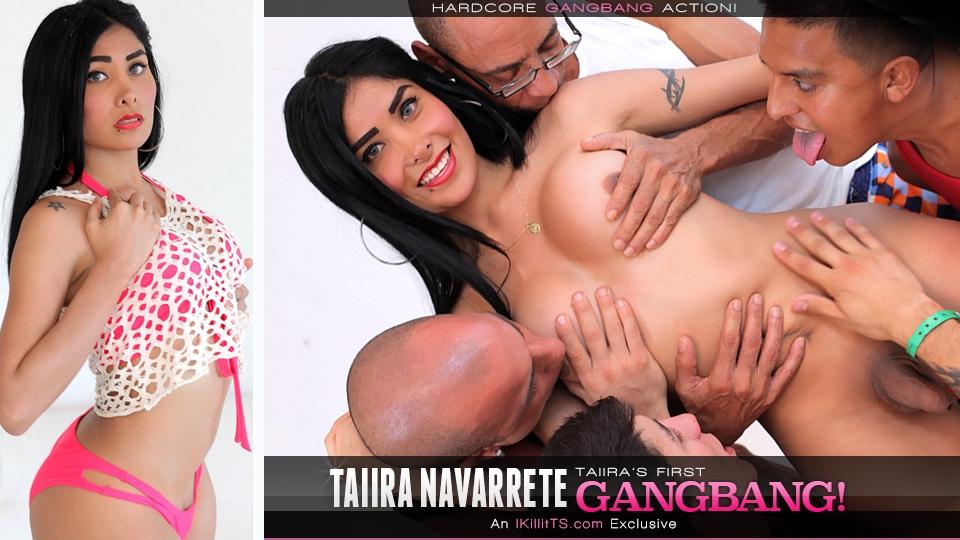 Trans500.com - Taiira Navarrete's First Gangbang